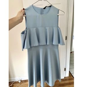 Zara cold shoulder mini dress